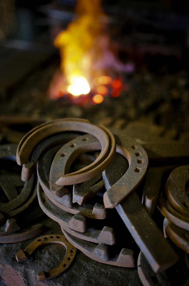 Photo - Horseshoes in Milster's shop.  CHRIS LANDSBERGER - CHRIS LANDSBERGER