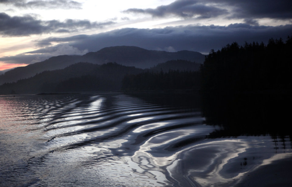 Photo - The sun sets in the Neva Straight near Sitka, Alaska, Saturday, June 9, 2012.  Photo by Sarah Phipps, The Oklahoman