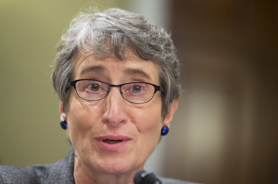 Photo - FILE - Department of the Interior Secretary Sally Jewell, testifies before the House Natural Resources Full Committee oversight hearing on the Department of the Interior's operations, management, and rule makings on Capitol Hill in Washington, in this July 17, 2013 file photo. Jewell plans to announce  Friday May 30, 2014 at the Stonewall Inn in New York that the National Park Service will start marking places of significance to the history of lesbian, gay, transgender and bisexual Americans. (AP Photo/Manuel Balce Ceneta, File)