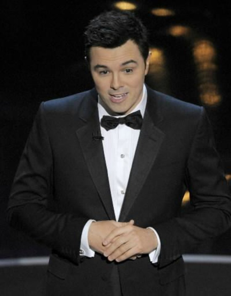 Seth MacFarlane hosts the Oscars. (AP)