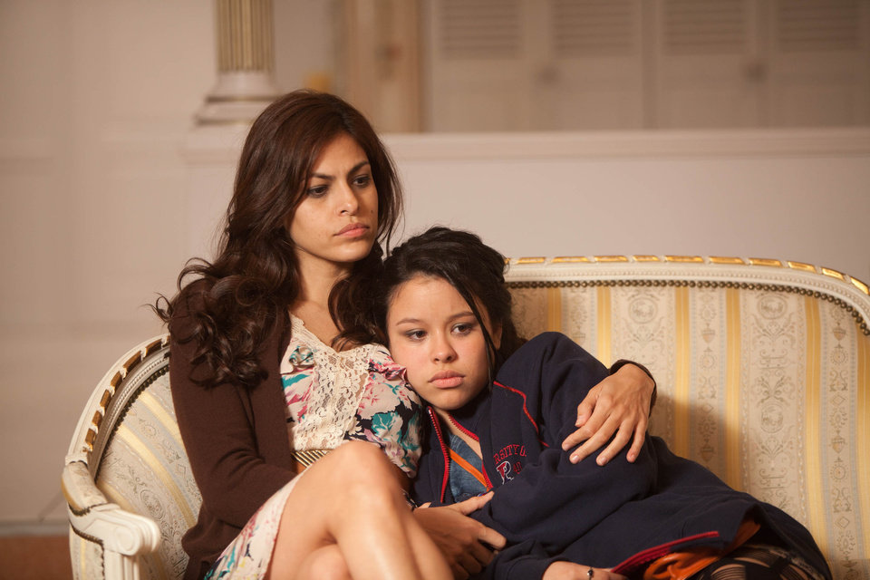 Photo -   In this film image released by Pantelion Films, Eva Mendes, left, and Cierra Ramirez are shown in a scene from