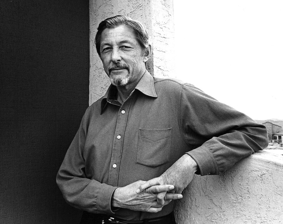 "In this 1982 image provided by Counterpoint Press, author Evan S. Connell poses for a photo in Santa Fe, N.M. The acclaimed author, whose literary explorations ranged from Depression-era Kansas City in the twin novels ""Mrs. Bridge"" and ""Mr. Bridge"" to Custer's last stand,  ""Son of the Morning Star: Custer and the Little Bighorn,"" was found dead Thursday Jan. 10, 2013, in his Santa Fe apartment, his niece said. He was 88. (AP Photo/Courtesy of Counterpoint Press)"
