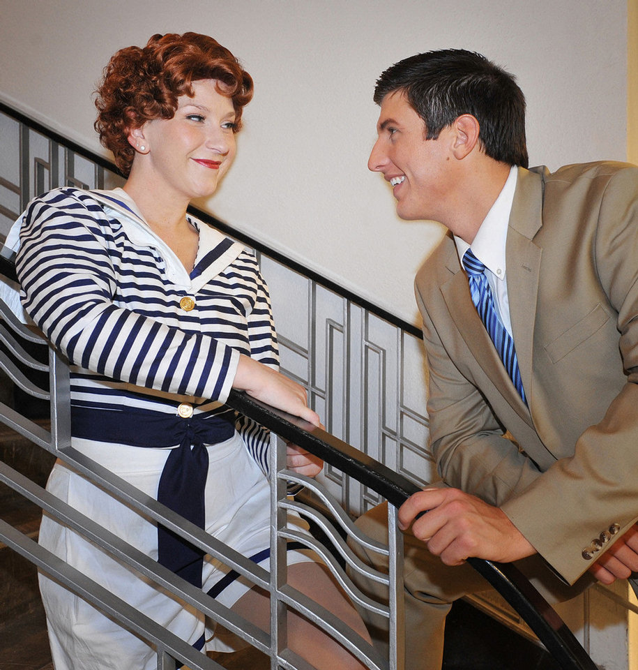 Photo - Renee Anderson and Dallas Lish star as Reno Sweeney and Billy Crocker in Summerstock Productions'
