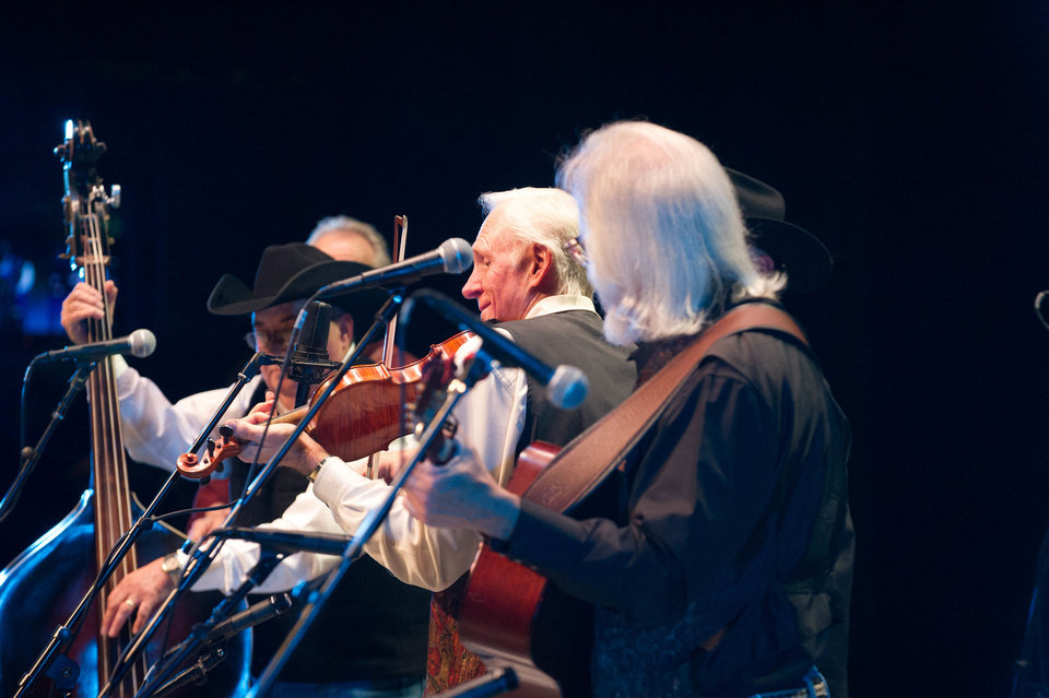 Photo - The Byron Berline Band performs bluegrass in concert recently at the Armstrong Auditorium in Edmond.  PHOTO BY MATT FRIESEN PROVIDED.
