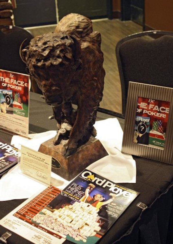 Photo - The winner of the Main Event poker championship recently held at the Choctaw Casino in Durant took home this buffalo trophy. PHOTO PROVIDED.
