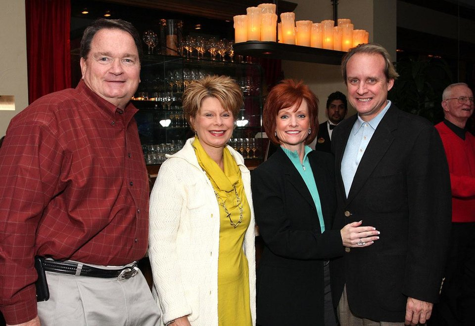 Right:  George and Luann Moore, Kelli Wilkinson, Doug Cleary. - Photo By David Faytinger, For The Oklahoman