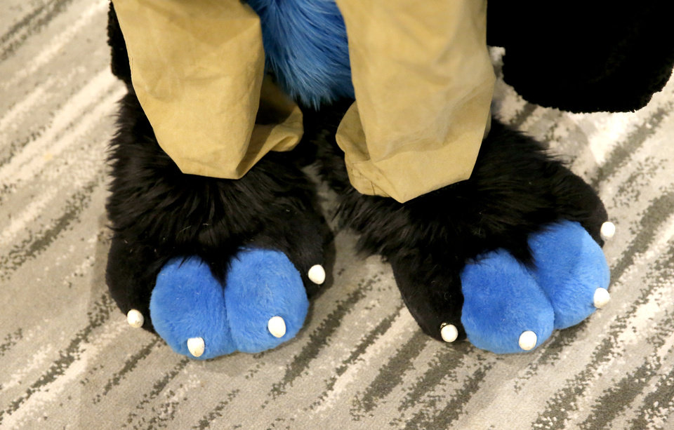 Photo - Paws are pictured at the AnthroExpo 2020 at the Sheraton Oklahoma City Downtown Hotel, Friday, Jan. 31, 2020.  [Sarah Phipps/The Oklahoman]