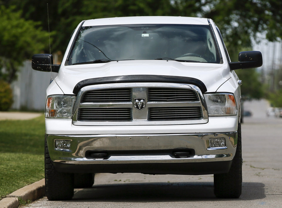 Photo -  A Ram truck in Oklahoma City. [Photo by Nate Billings, The Oklahoman]