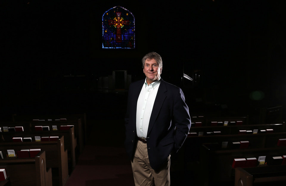 The Rev. Mateen Elass poses for a photo at the First Presbyterian Church in Edmond, Okla.,  Thursday,Jan. 24, 2013.Photo by Sarah Phipps, The Oklahoman