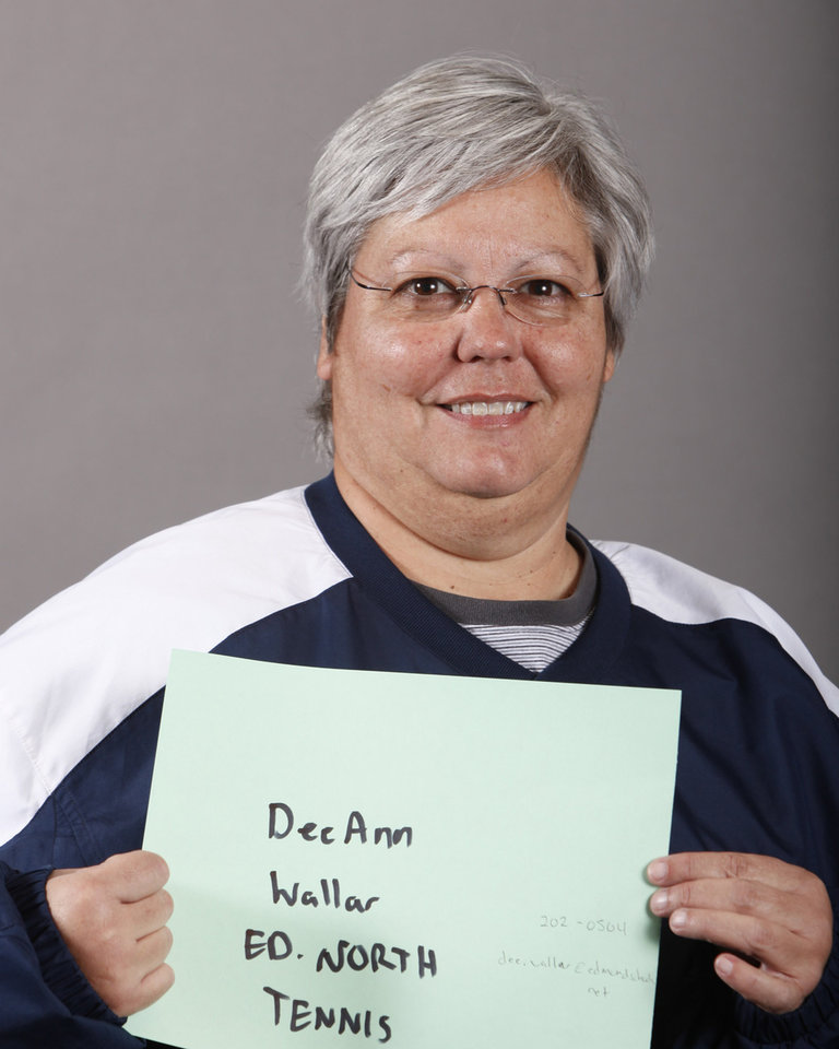 Photo - Dee Ann Wallar, Edmond North, tennis coach, poses for a mug at The Oklahoman's Spring high school sports photo day, Wednesday, Feb. 18, 2009, at the OPUBCO building in Oklahoma City. PHOTO BY SARAH PHIPPS, THE OKLAHOMAN ORG XMIT: KOD