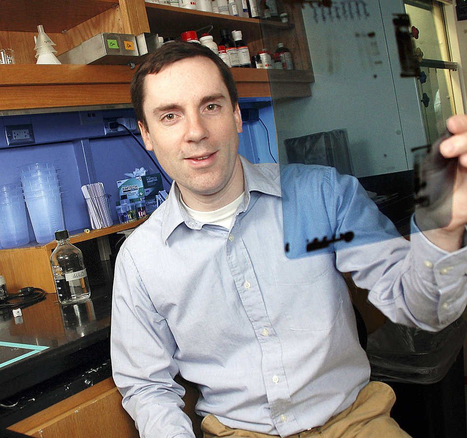 Chris Sansam, Ph.D., uses zebrafish to study how cells respond to DNA damage. His studies could be the key to understanding how chemotherapy affects non-cancerous cells and what can go wrong during embryonic development.  <strong></strong>