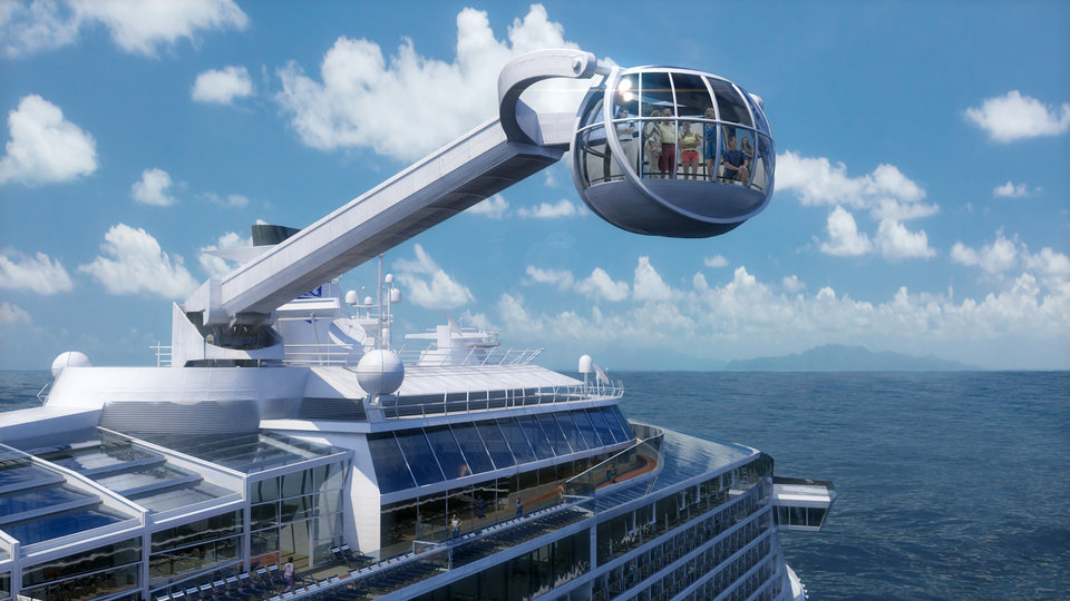 Photo - This computer-generated image provided by the Royal Caribbean International cruise line shows its forthcoming ship, Quantum of the Seas. Quantum is expected to launch in November and is one of the cruise industry's most highly anticipated ships of 2014. (AP Photo/Royal Caribbean International)