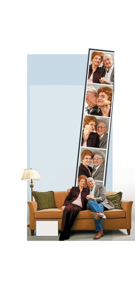 Photo - GRAPHIC/ILLUSTRATION WITH PHOTOS, 1-5: SYBIL NEWCOMB: Sybil and Bill Newcomb, married for 55 years    PHOTO BY CHRIS LANDSBERGER/THE OKLAHOMAN