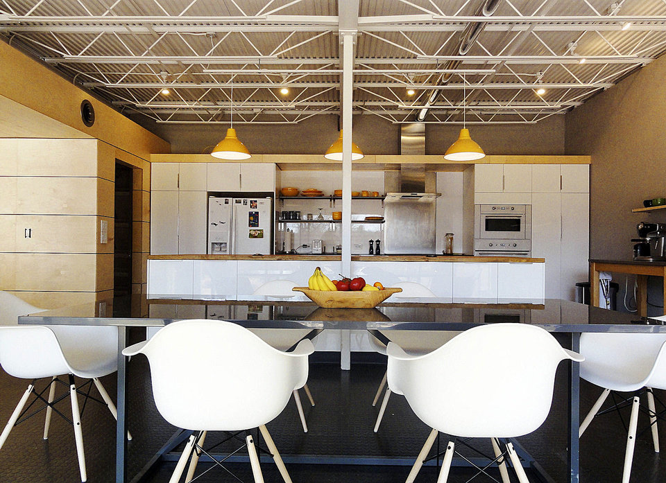 Photo - Eating space in the kitchen of the Underground Loft, 3200 Sexton Drive in Norman.