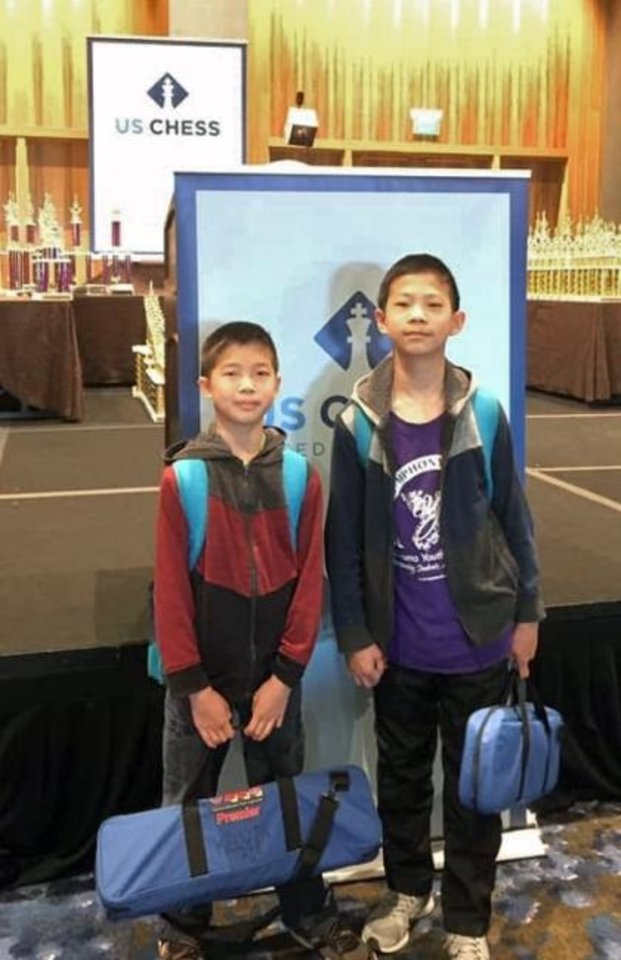 Photo -  Brothers Maxwell Xie and Kelvin Xie each won 3.5 games. [PHOTO PROVIDED]