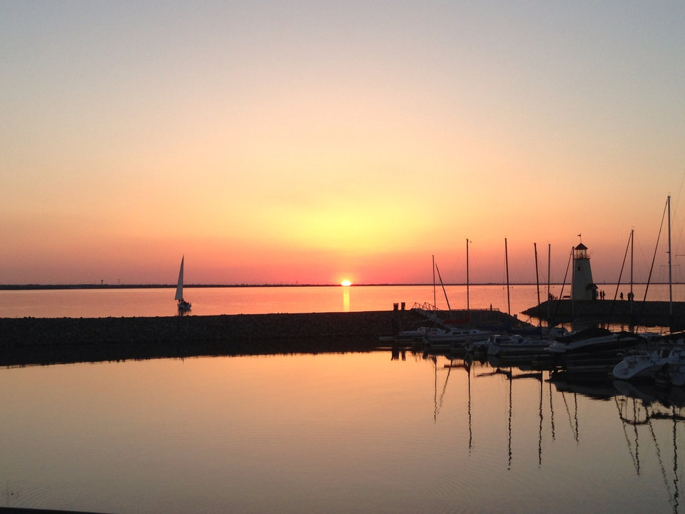 Lake Hefner Sunset - Photo by George Fulco