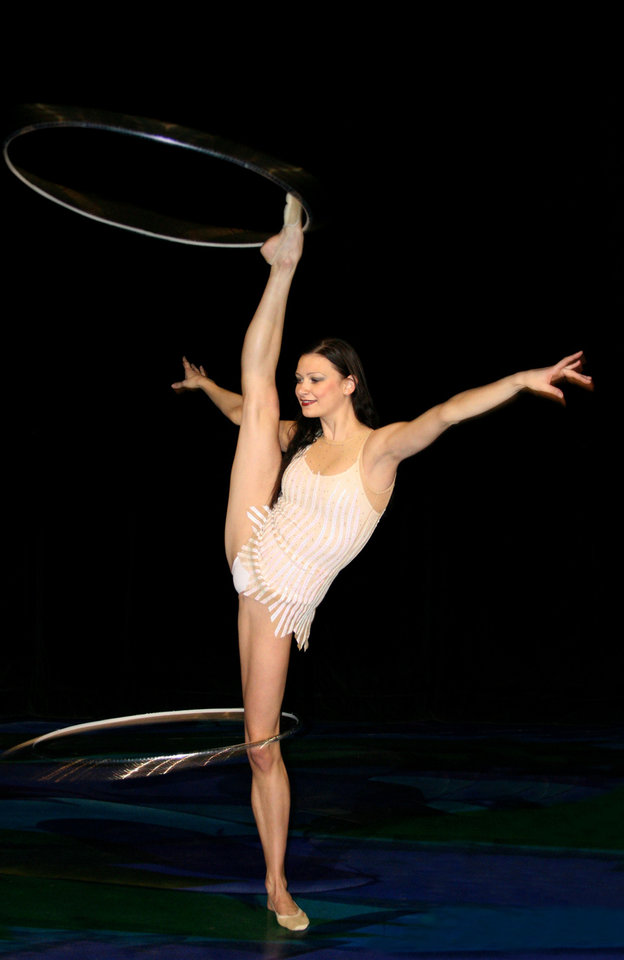 Hula Hoop artist Tamara Yerofeyeva    Photo provided <strong>Photo provided</strong>