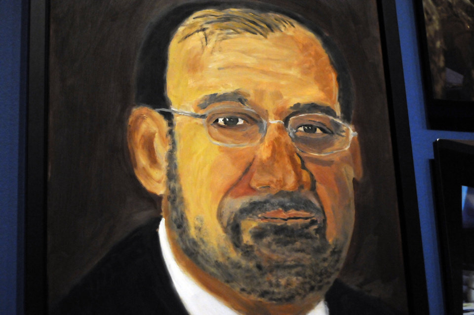 Photo - A portrait of Iraqi Prime Minister Nouri al-Maliki which is part of the exhibit