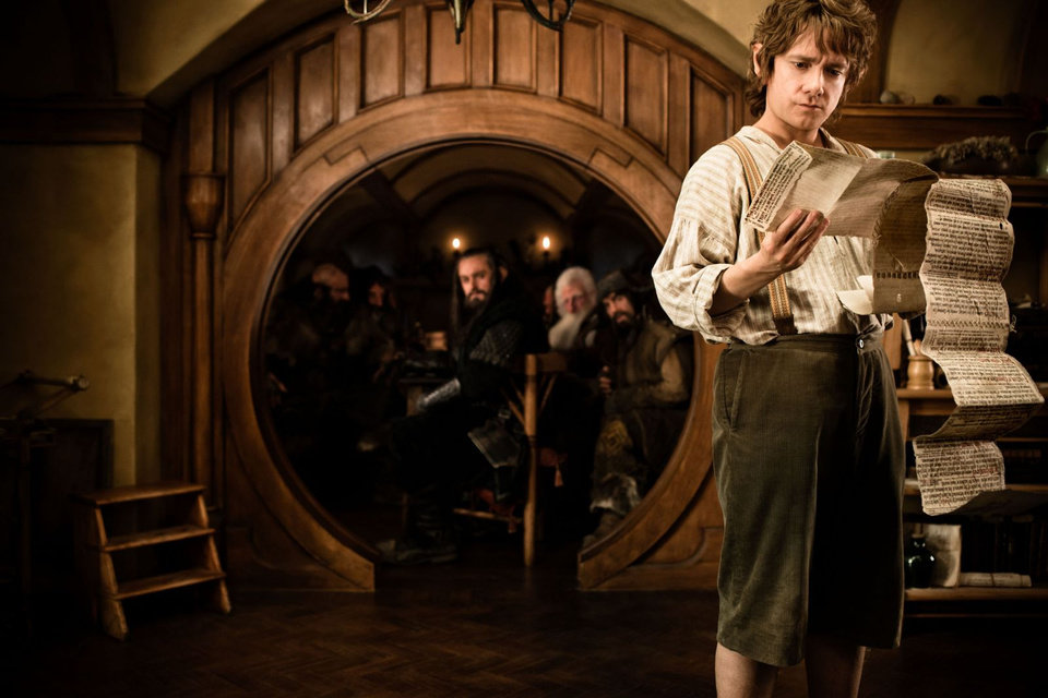 MARTIN FREEMAN as Bilbo Baggins in New Line Cinema�s and MGM's fantasy adventure �THE HOBBIT: AN UNEXPECTED JOURNEY,� a Warner Bros. Pictures release.
