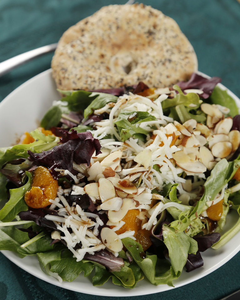 Healthy meals from leftovers like mixed green salad from registered dietician Becky Varner. <strong>DOUG HOKE - THE OKLAHOMAN</strong>