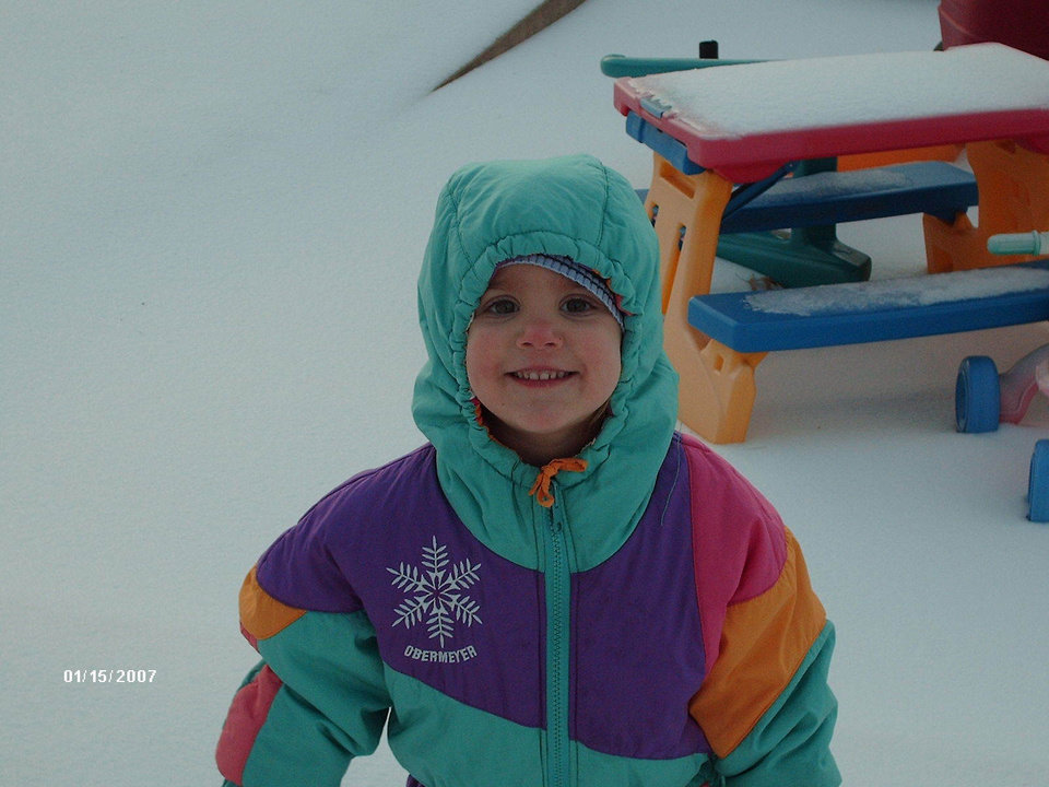 Caroline having fun in the ice! El Reno Community Photo By: Julie Submitted By: Julie, El Reno