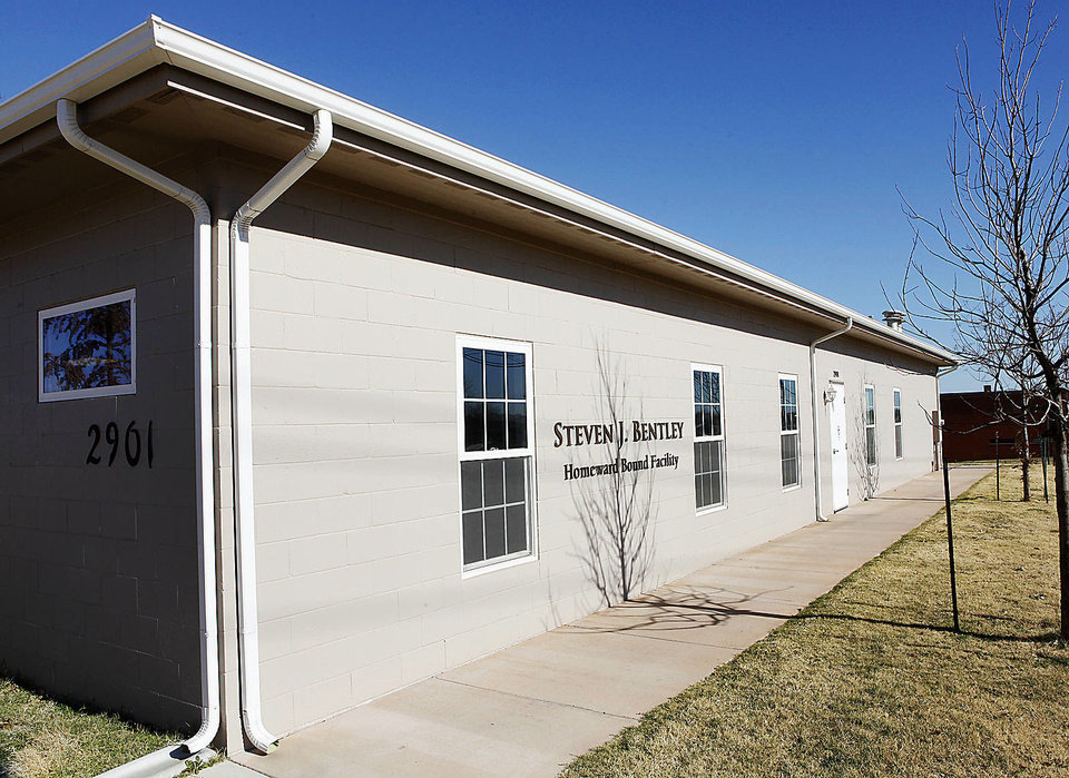 This is the Steven J. Bentley Homeward Bound Facility in Oklahoma City. The center helps find dogs and cats homes in other states where there is a demand.