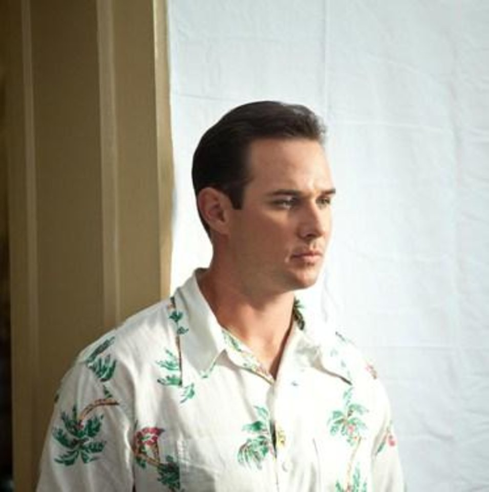 "Photo -  Choctaw native Ryan Merriman plays Dixie Walker in the Jackie Robinson biopic ""42."""
