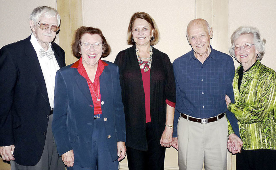 Photo - Carl Manion, Lou Ann Rice, Nikki Singer, Bill and Ima Gene Gudell. PHOTOs PROVIDED