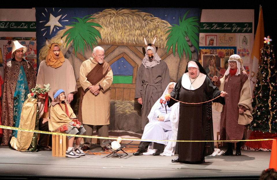 "Photo - Maripat Donovan heads the cast of ""Sister's Christmas Catechism.""Photo by Chuck Green"