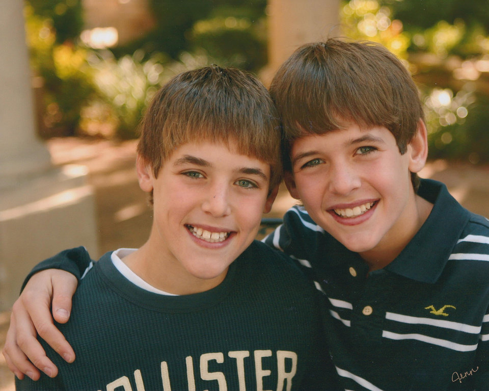 Photo - Twins Trevor Knight, left, and Connor Knight. PHOTO PROVIDED