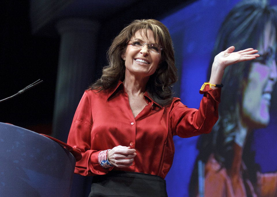 Photo -   FILE - In this Feb. 11, 2012, file photo, former Alaska Gov. and GOP vice presidential candidate Sarah Palin delivers the keynote address to activists from America's political right at the Conservative Political Action Conference (CPAC) in Washington. NBC's