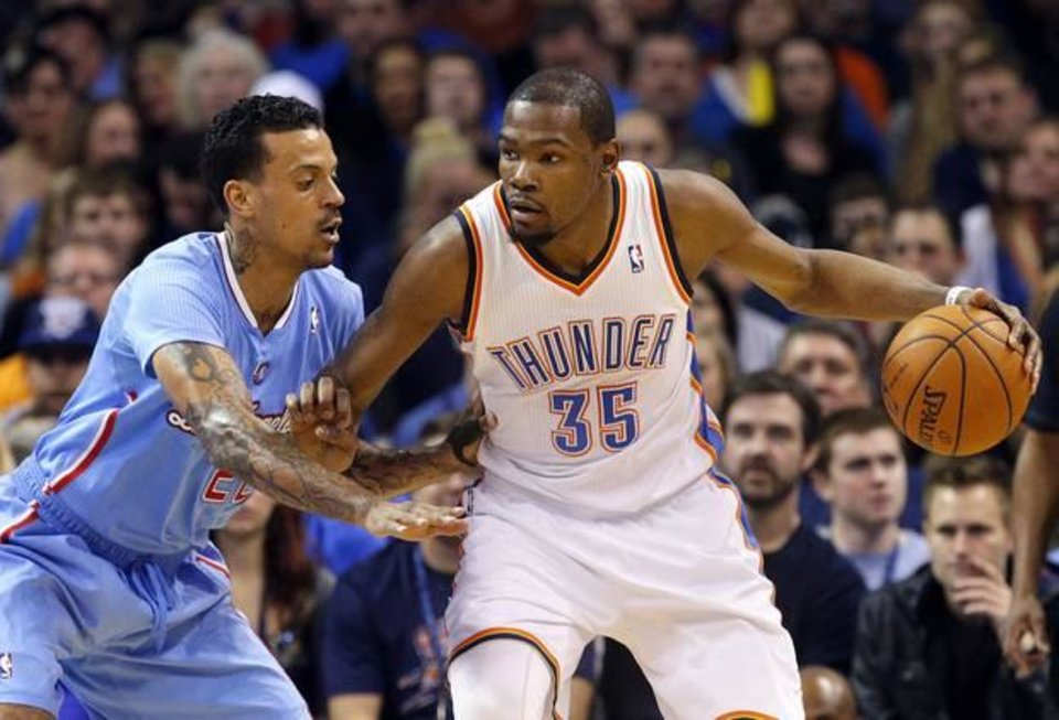 Kevin Durant and Serge Ibaka are providing the assists off the court. Photo by Sarah Phipps, The Oklahoman