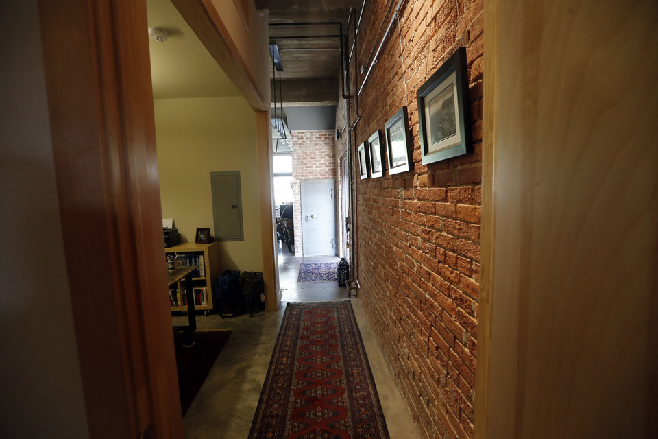This view shows the hallway of Robert Lewis\'s home at 711 N Hudson. SARAH PHIPPS - The Oklahoman