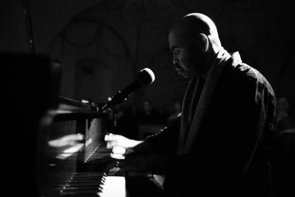 Photo - Justin Echols taught himself to play jazz piano while recuperating from a car crash. He now balances an international music career with police  duties.  Photos provided