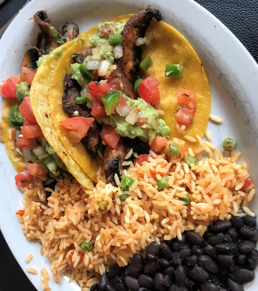 Photo -  Portobello tacos from Mamasita's in Oklahoma City, which will close in mid-August after 32 years in business. [Photo by Dave Cathey, The Oklahoman]