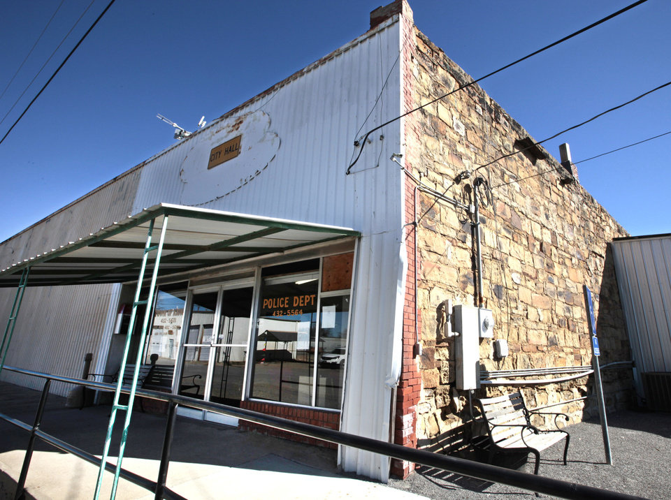 Photo - This is Kiowa's police station. Photo by David McDaniel, The Oklahoman  David McDaniel