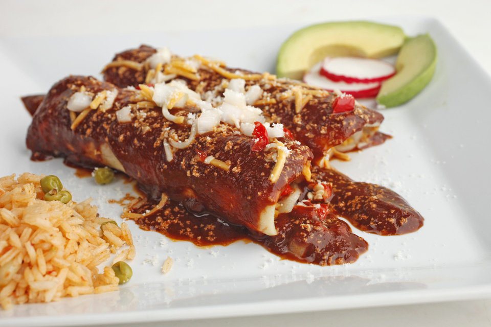 Enchilada's for Cinco de Mayo Friday, April 27, 2012. Photo by Doug Hoke, The Oklahoman