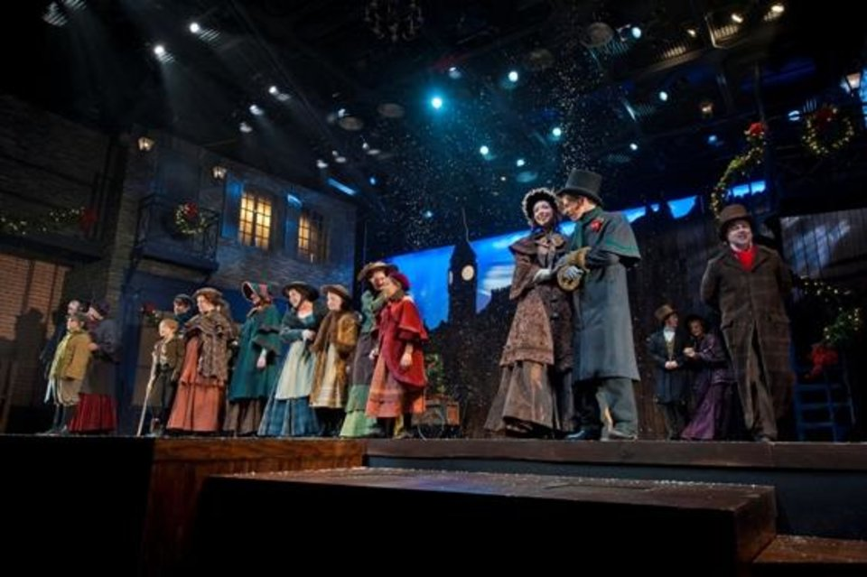 """Photo -  Lyric Theatre brings holiday spirit to its 2012 production of """"A Christmas Carol."""" The company is performing the Charles Dickens classic again in 2013. Photo by KO Rinearson."""