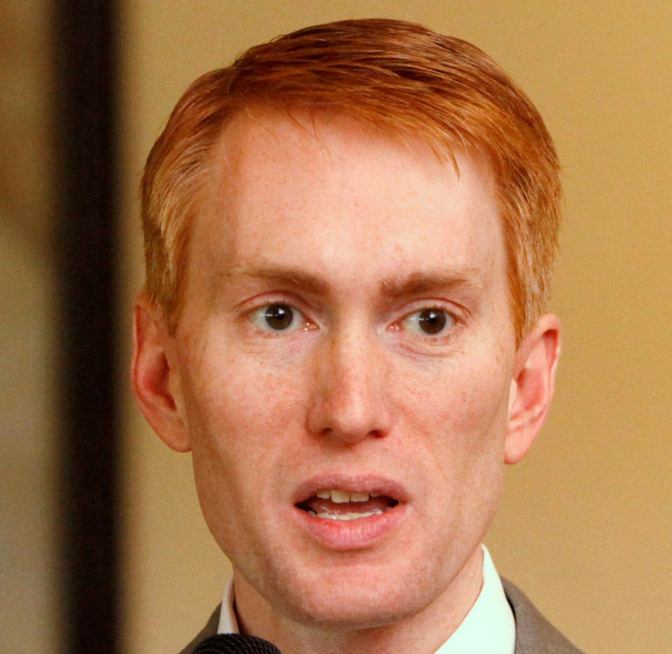 Photo - MUG CROPPED FROM ORIGINAL PHOTO: Congressman James Lankford speaks to the Edmond Chamber of Commerce during a luncheon at Oak Tree Country Club in Edmond, OK, Tuesday, April 19, 2011. By Paul Hellstern, The Oklahoman
