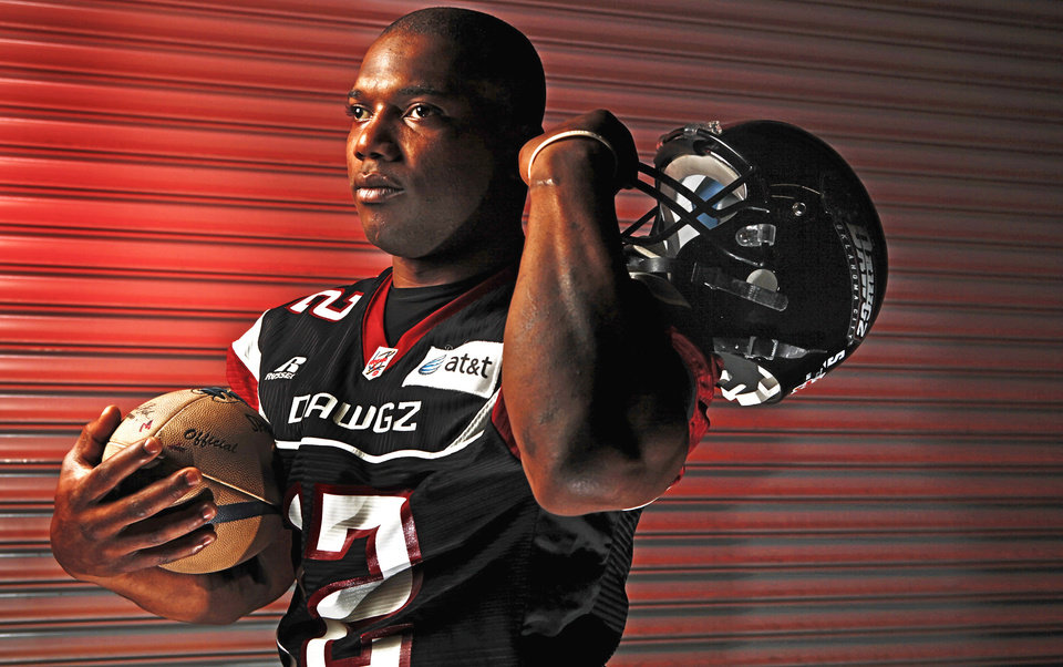Photo - Former Northwestern Oklahoma star Al Hunt is the only player who has been with the Yard Dawgz since its inception in 2004.  Photo by Chris Landsberger, The Oklahoman