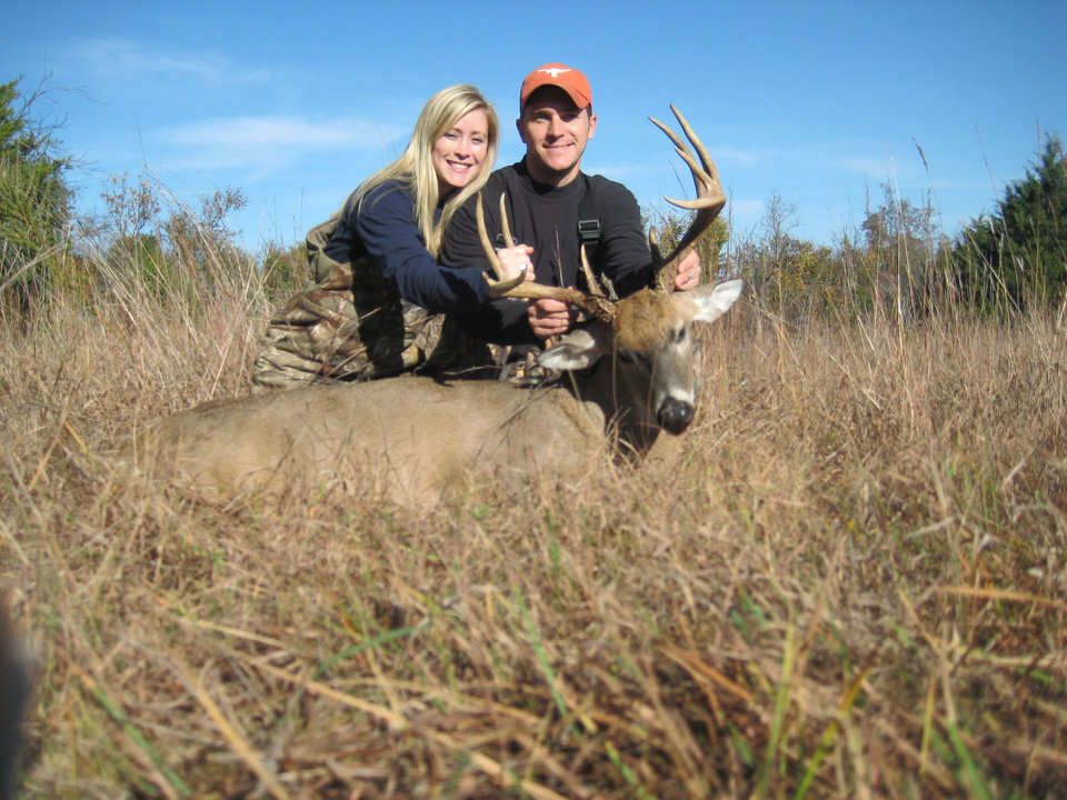 Photo -  Carey and Brooke Drake with Lincoln County 10-point