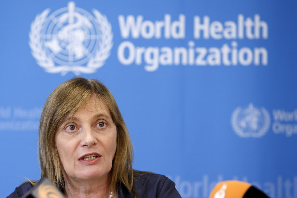Photo - Marie-Paule Kieny, Assistant Director General of the World Health Organization,WHO, informs the media following a panel of medical ethicists to explore experimental treatment in the Ebola outbreak, at the headquarters of the WHO in Geneva, Switzerland, Tuesday, Aug. 12, 2014. (AP Photo/Keystone, Salvatore Di Nolfi)