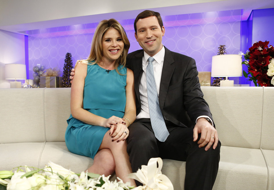 Photo - This image released by NBC shows Jenna Bush Hager, left, and her husband Henry Hager as they appear on NBC News'
