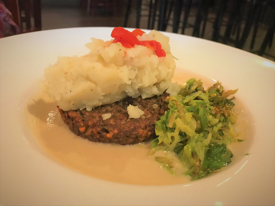 Photo - Meatloaf for vegans is on the menu daily at Picasso Cafe in Oklahoma City. [Dave Cathey/The Oklahoman]