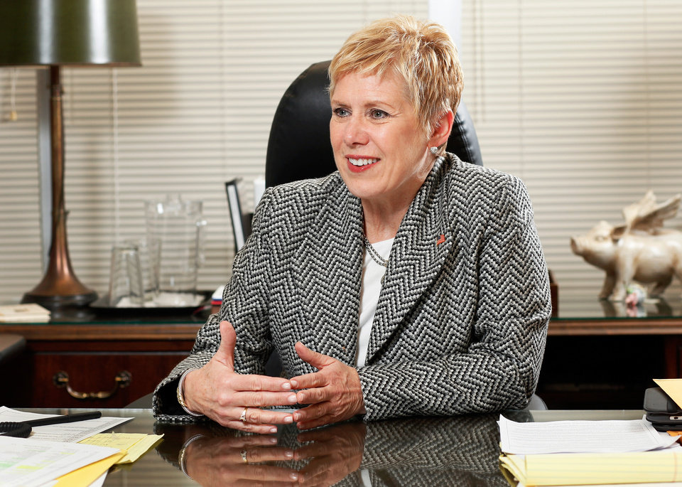 State Schools Superintendent Janet Barresi in her office in the Hodge Building in the state Capitol complex on Tuesday, January 10, 2012,     Photo by Jim Beckel, The Oklahoman