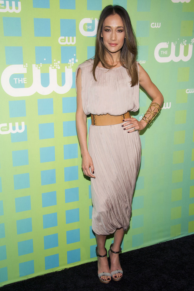 Photo -   Maggie Q attends The CW Television Network's Upfront 2012 in New York, Thursday, May 17, 2012. (AP Photo/Charles Sykes)