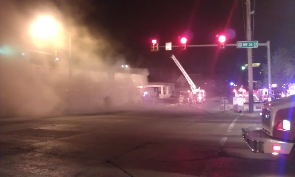 Photo - Fire at NW 36th and Western Ave