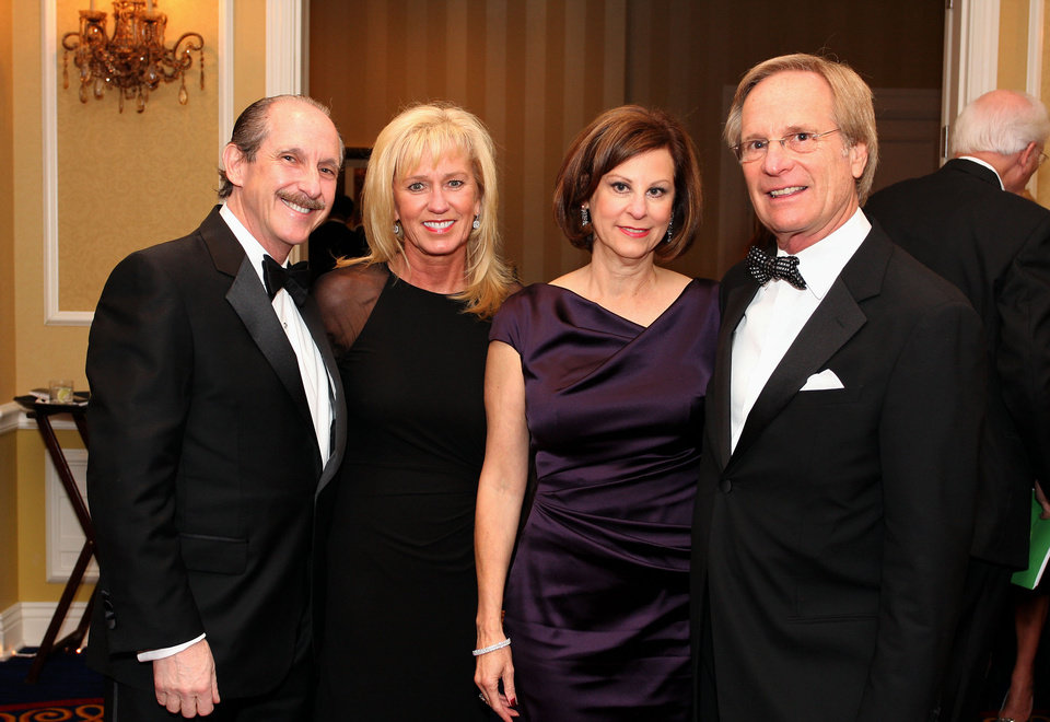 Photo -  Jeffrey and Dana Hirsch and Jackie and Jerry Bendort, co-chairmen of the St. Anthony Foundation Saints Ball.