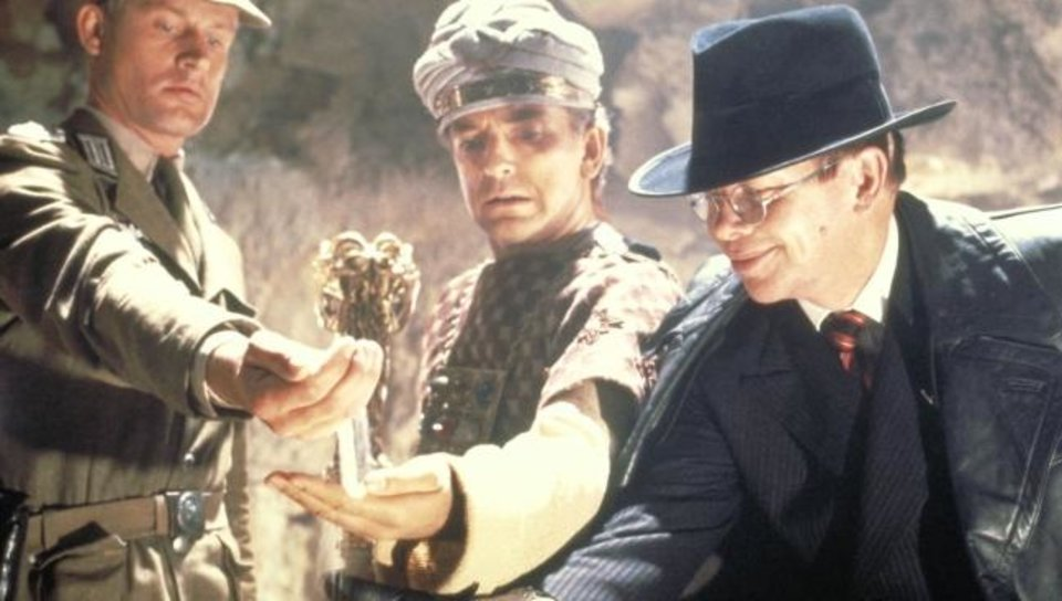 Photo -  From left, Wolf Kahler, Paul Freeman and Ronald Lacey star in the classic 1981 film