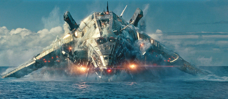 "An alien invader rises from the Pacific in ""Battleship,"" an epic-scale action-adventure that unfolds across the seas, in the skies and over land as our planet fights for survival against a superior force.  UNIVERSAL PICTURES PHOTO <strong>Photo Credit: ILM/Universal Pictures</strong>"